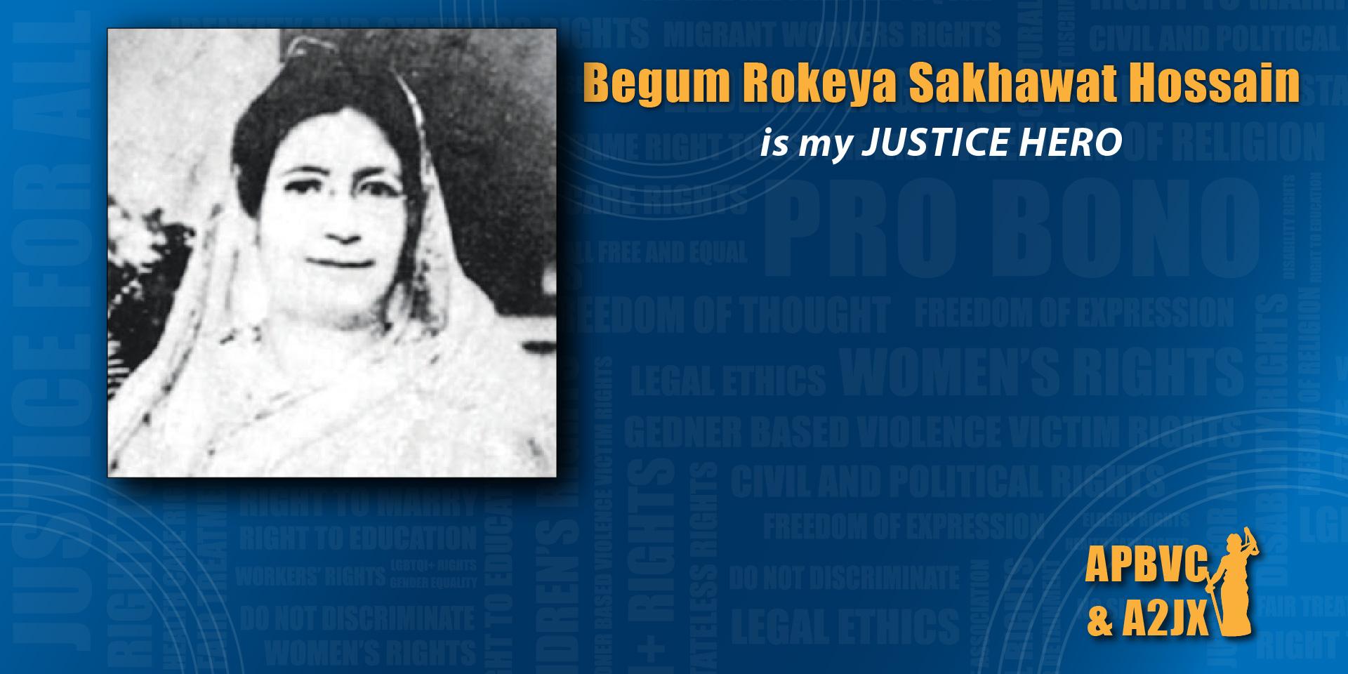 Begum Rokeya Sakhawat Hossain