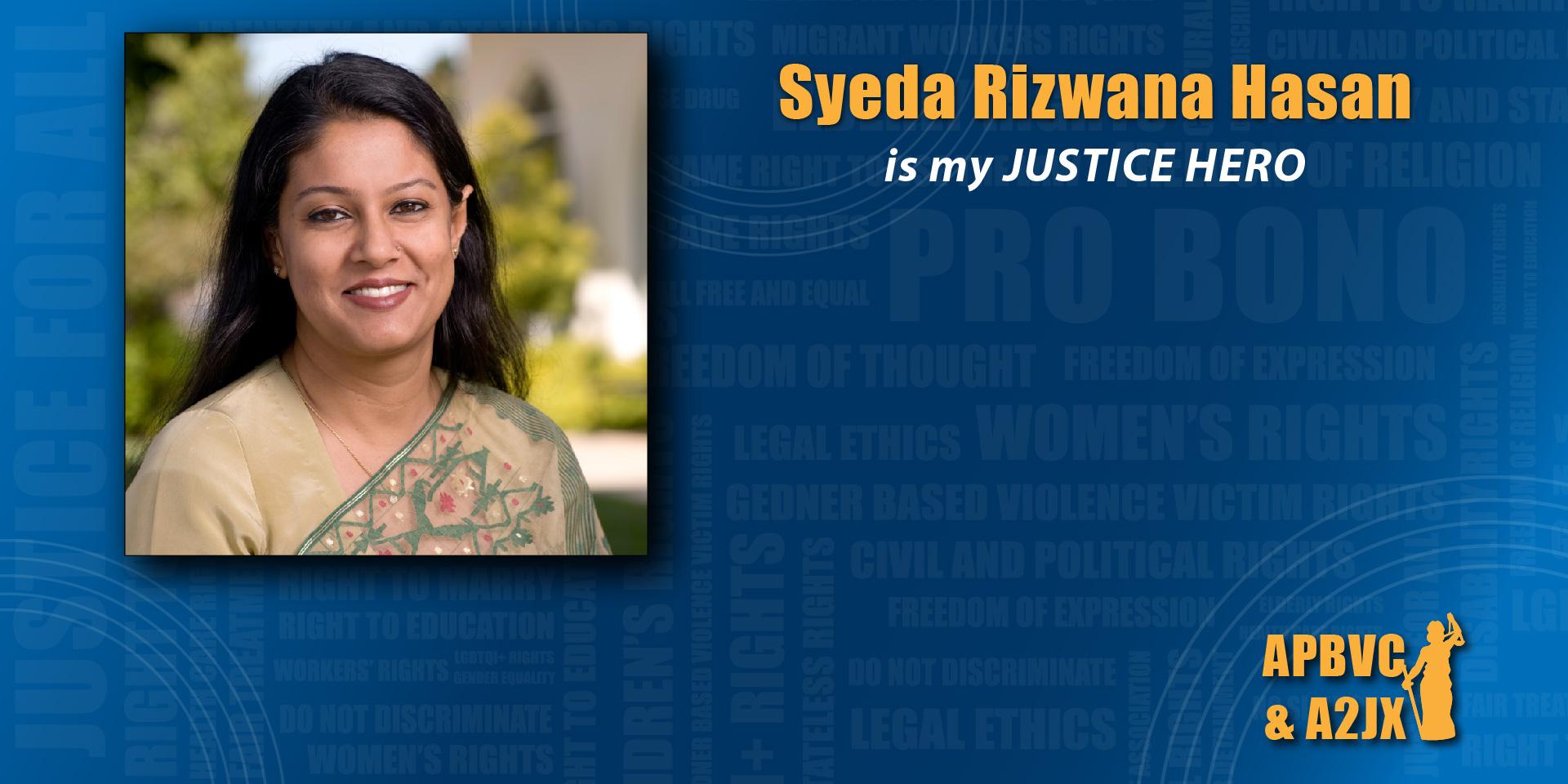 Syeda Rizwana Hasan